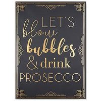 Product photograph showing Graham Brown Prosecco Time Canvas With Metallic
