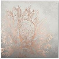 Product photograph showing Graham Brown Pretty Protea Canvas With Metallic