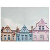 Product photograph showing Graham Brown Pretty Pastel Skyline Canvas