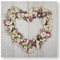 Product photograph showing Graham Brown Floral Heart Canvas