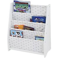 Product photograph showing Lloyd Pascal Hammock Style Bookshelf With Printed Star Fabric
