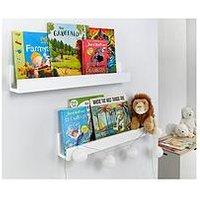 Product photograph showing Lloyd Pascal Set Of 2 Wall Mounted Kids Shelves