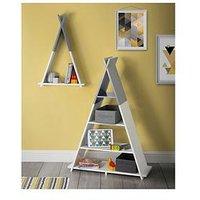 Product photograph showing Lloyd Pascal Teepee Wall Mounted Single Tier Kids Shelf