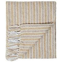 Product photograph showing Cascade Home Frera Striped Boucle Throw