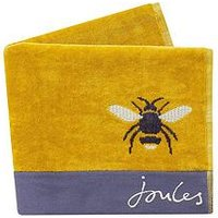 Product photograph showing Joules Botanical Bee Towels Bath Sheet