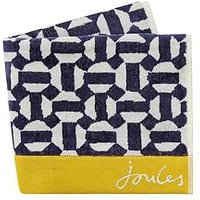 Product photograph showing Joules Honeycomb Geo Bath Towel