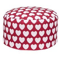 Product photograph showing Kaikoo Kids Footstool Pink Heart