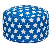 Product photograph showing Kaikoo Kids Footstool Blue Star