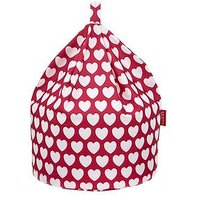 Product photograph showing Kaikoo Kids Cotton Beanbag Pink Heart