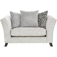 Product photograph showing Sicily Fabric Scatter Back Cuddle Chair