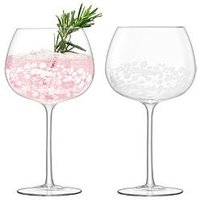 Product photograph showing Lsa International Lsa International Stipple Balloon Goblet Glasses Set Of 2