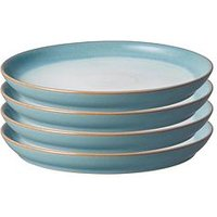 Product photograph showing Denby Azure Haze Coupe Dinner Plates Set Of 4