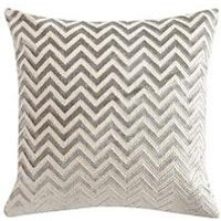 Product photograph showing Luxe Collection Zig Zag Velvet Cushion