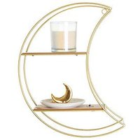 Product photograph showing Sass Belle Wire Moon Shelf