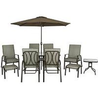 Product photograph showing Cannes 11-piece Dining Set Garden Furniture