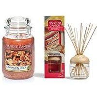 Product photograph showing Yankee Candle Cinnamon Sticks Large Jar Candle And Reed Diffuser Bundle