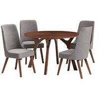 Product photograph showing Julian Bowen Huxley 120 Cm Round Dining Table And 4 Chairs