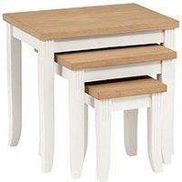 Product photograph showing Julian Bowen Davenport Nest Of 3 Tables