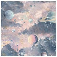 Product photograph showing Arthouse Glitter Planets Wallpaper