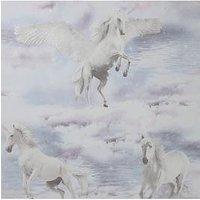 Product photograph showing Arthouse Glitter Unicorn Kingdom Wallpaper