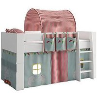 Product photograph showing Steens For Kids Steens Mid Sleeper With Circus Tent