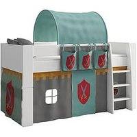 Product photograph showing Steens For Kids Steens Mid Sleeper With Knight Tent