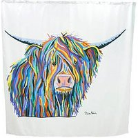 Product photograph showing Croydex Steven Brown Angus Mcmoo Shower Curtain