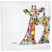 Product photograph showing Croydex Steven Brown Francie And Josie Mczoo Shower Curtain