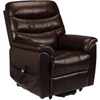 Product photograph showing Julian Bowen Pullman Dual Motor Leather Rise And Recline Chair