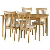 Product photograph showing Julian Bowen Ibsen 150 - 190 Cm Extending Dining Table 4 Chairs