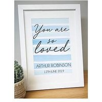 Product photograph showing Personalised You Are So Loved A4 Framed Print