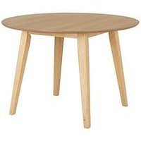 Product photograph showing Scandi 110 Cm Round Dining Table