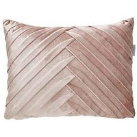 Product photograph showing Pleated Velvet Boudoir Cushion In Pink