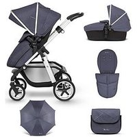 image-Silver Cross Pioneer Pushchair 9-Piece Bundle - (Pushchair, Carry Cot, Parasol, Changing Bag And Footmuff)