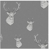 Product photograph showing Catherine Lansfield Stag Wallpaper