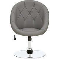 Product photograph showing Odyssey Faux Leather Leisure Chair - Grey
