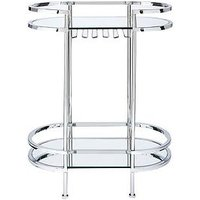 Product photograph showing Michelle Keegan Home Aruba Mirrored Drinks Trolley