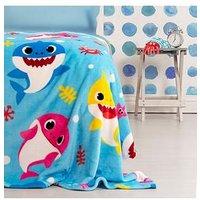Product photograph showing Baby Shark Underwater Fleece Blanket