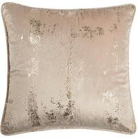 Product photograph showing Michelle Keegan Embossed Velvet Cushion