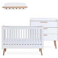 image-Silver Cross Brighton Cot Bed, Dresser & Wall Shelf