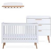 Product photograph showing Silver Cross Brighton Cot Bed Dresser Wall Shelf