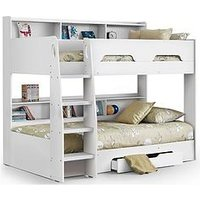 image-Julian Bowen Riley Bunk Bed With Shelves And Storage - White