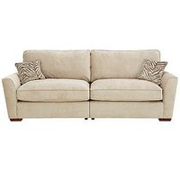 Product photograph showing Kingston Fabric 4 Seater Standard Back Sofa