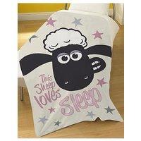 Product photograph showing Shaun The Sheep This Sheep Loves Sleep Blanket
