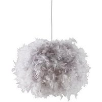 Product photograph showing Ellie Easy Fit Pendant Lightshade - Grey