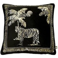 Product photograph showing Laurence Llewelyn-bowen Sleeping Beauty Collection Tiger Tiger Cushion