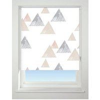 Product photograph showing Textured Triangle Blackout Roller Blind