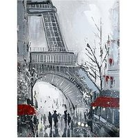 Product photograph showing Arthouse Eiffel Tower Hand-painted Canvas Wall Art