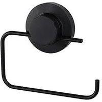 Product photograph showing Lloyd Pascal Matt Black Epoxy Toilet Roll Holder