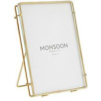 Product photograph showing Monsoon Double Bar Metal Photo Frame